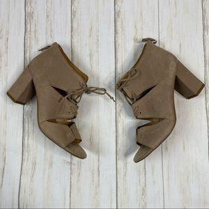 Franco Sarto Gazella Tan Leather Heeled Sandals